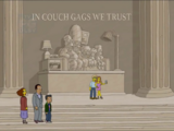 Lincoln Memorial and Coin Family couch gag