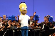 The Simpsons take the bowl - homer band
