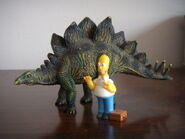 Homer Simpson e lo stegosauro