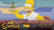 Homer Raids The Food Court Season 30 Ep