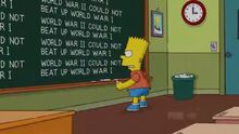Stealing First Base Chalkboard Gag