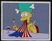 Mel Comendo a Bandeira