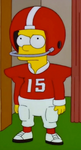 Bart football uniform