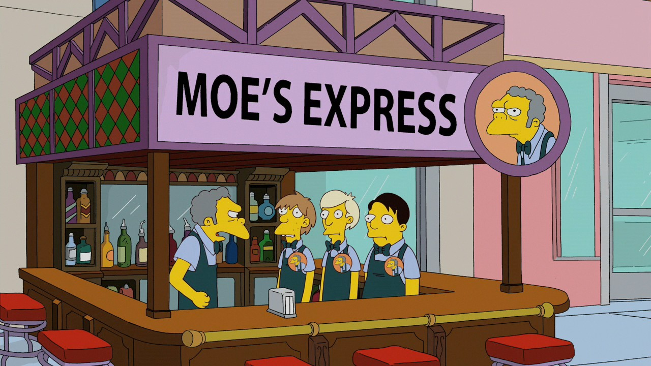 Moe's Express | Simpsons Wiki | FANDOM powered by Wikia