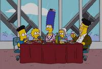 Simpsonowie we francuskiej restauracji