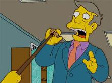 Bart aponta amendoim skinner