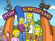 Itchy and scratchy land entrance