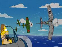 Abe jovem guerra aviões