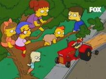 Crianças árvore willie trator 2