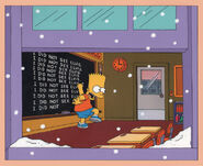 S1 E8 Chalkboard Gag Animation Cell