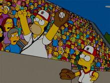 Homer pega bola bart 18x18