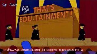 I Simpson Springfield Elementary School Faculty - Fame Parody Song (Sub Ita)