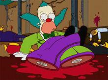 Krusty partido ao meio navio