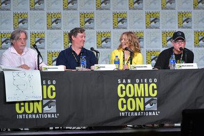 Al Jean Mike B Anderson speak 2019 Comic Con