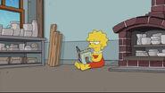 """Lisa reading """"Granta"""" by Thomas Pynchon"""