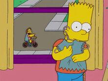 Bart abraça colete nelson caçoa
