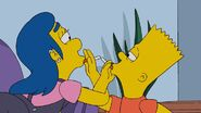 Annika Van Houten smoking with Bart