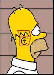 Homer de profil Matt Groening