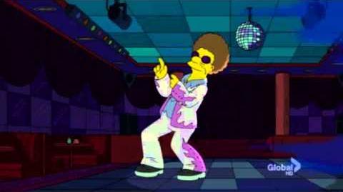 Disco Stu During A Power Cut, The Simpsons 01-06-13