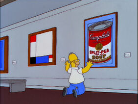 Andy Warhol's Can of Soup in The Simpsons