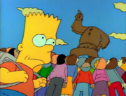 Bart Worried About the Statue (The Telltale Head)