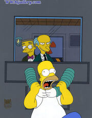 Mr burns hurts homer