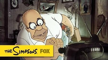 "Chomet Couch Gag from ""Diggs"" THE SIMPSONS ANIMATION on FOX"