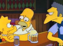 Lisa homer preocupado discurso moe