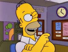 Homer apertar botão certo