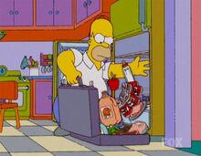 Homer fazendo mala comida