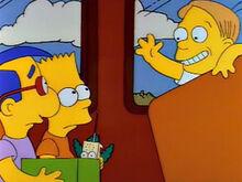 Milhouse bart martin ônibus