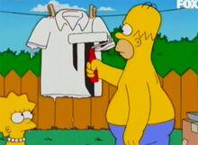 Homer pinta camisa arbitro lisa