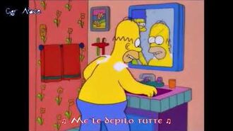 I Simpson Homer - Shaving My Shoulders (Sub Ita)