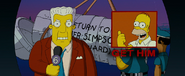 The Simpsons Movie Kent Brockman ordering everyone in Springfield to get Homer