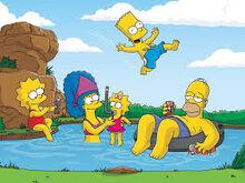 The Simpsons de boa na lagoa