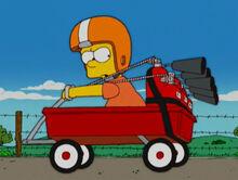 Bart carrinho extintores da escola