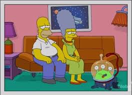 Homer And Marge's pet alien