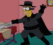 Homer as Zorro