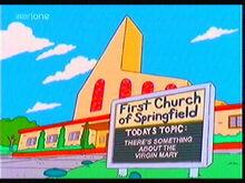 Springfieldchurchsimpsons