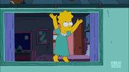 Bart in Lisa's dress