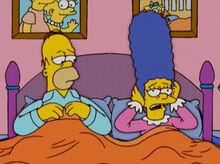 Homer marge não dormem