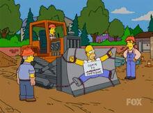 Homer protesto museu