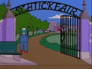 Krustys mansion gate-bart the fink