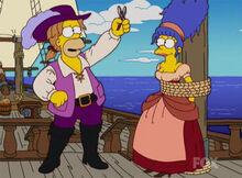 Homer marge piratas