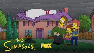 Flanders Plays Angel Bowling With The Gods Season 30 Ep. 3 THE SIMPSONS