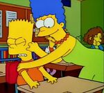 Marge embarrasses Bart at school