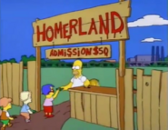 Homerland Theme Park Entrance