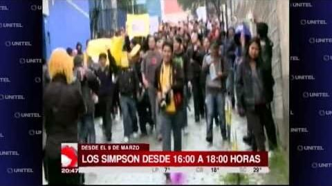 Bolivians protest to bring back The Simpsons-