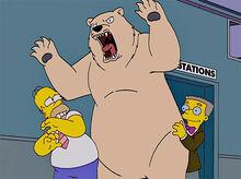 Homer medo urso branco smithers