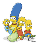 Marge, Maggie, Lisa & Bart